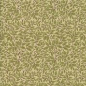 Moda - Voysey by The V&A - 6684 - The Lisston Leaf Print in Olive Green  - 7328 18 - Cotton Fabric